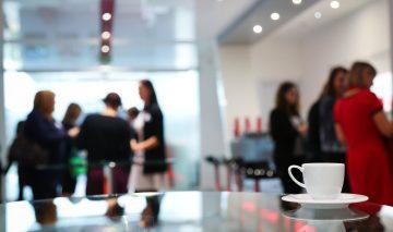coffee break, conference, women